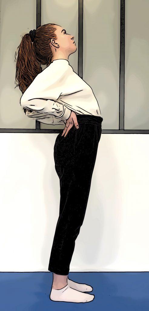 Posture du cobra : position intermédiaire