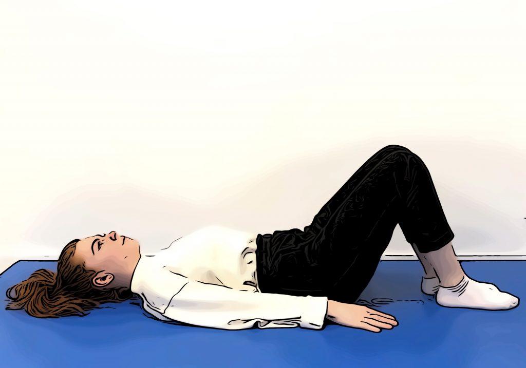 Étirement du cou : position initiale