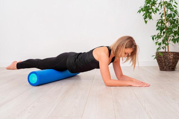 foam roller planche