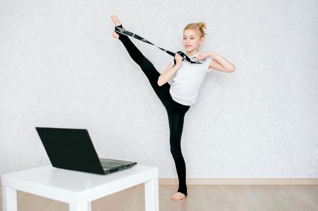 arabesque avec un elastiband