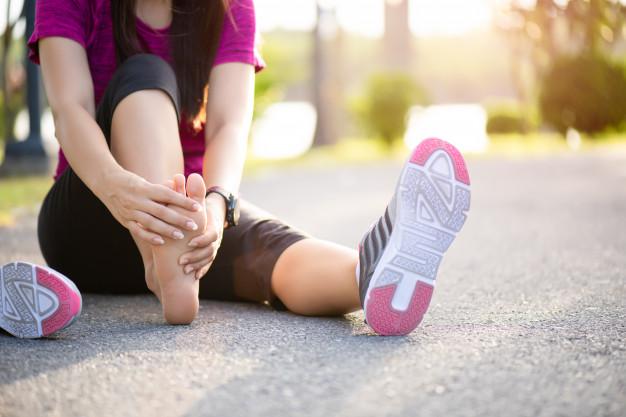 blessure de marathon : entorse