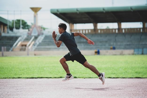 Préparation au marathon dans un stade