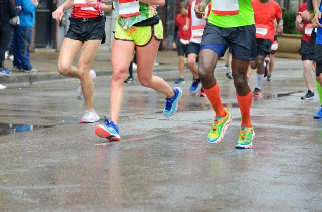 Marathonien en pleine épreuve