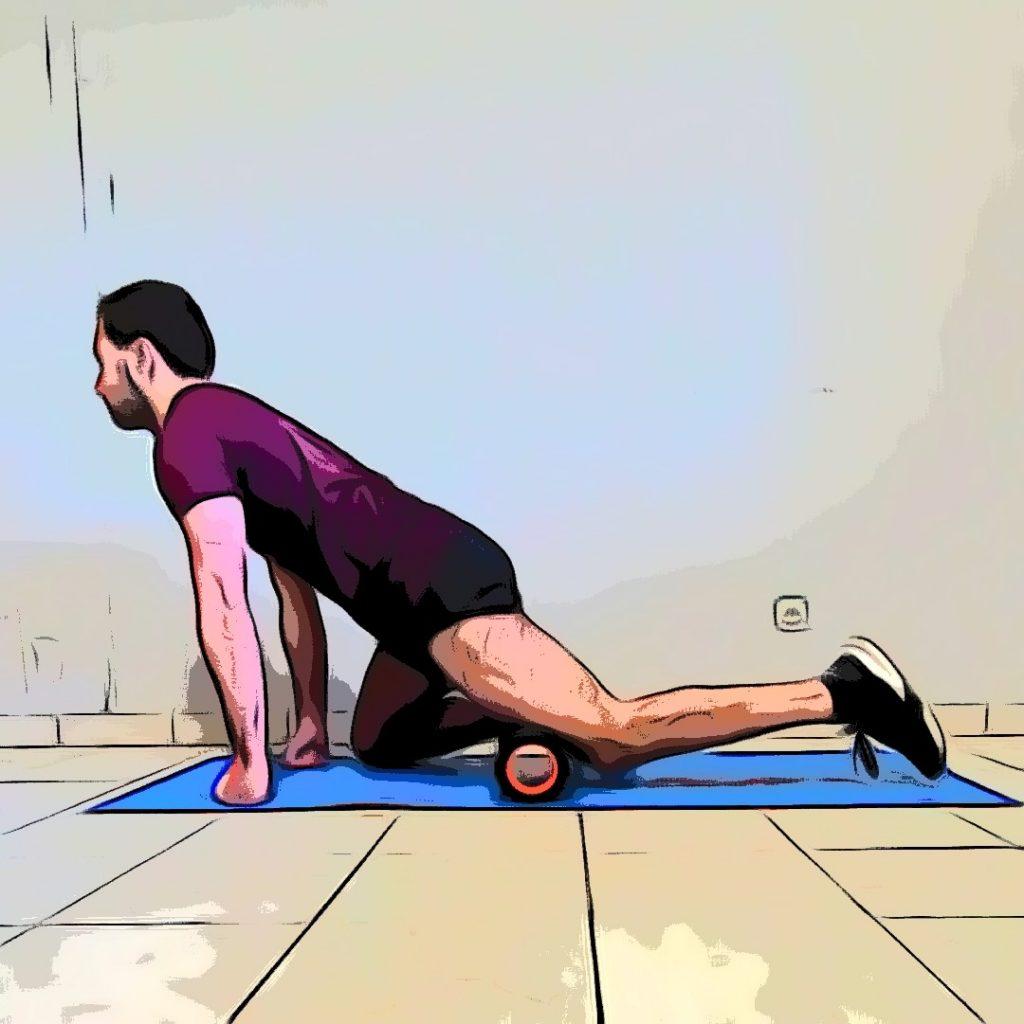 Massage running : quadriceps