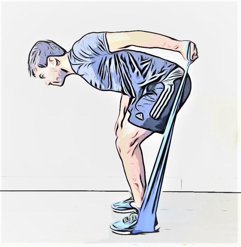 kickback avec élastique pour une séance de cross training à domicile