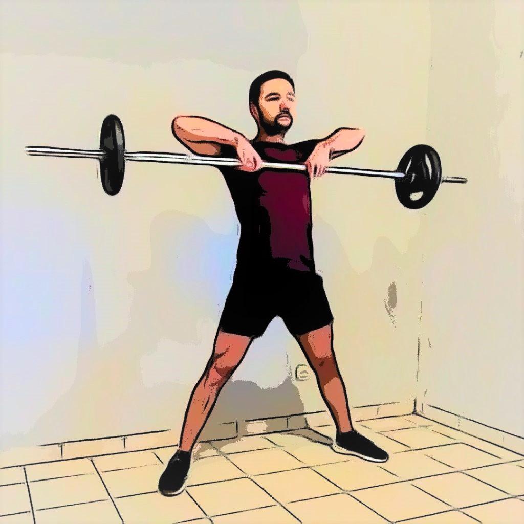 WOD jambes et dos : sumo deadlift high pull