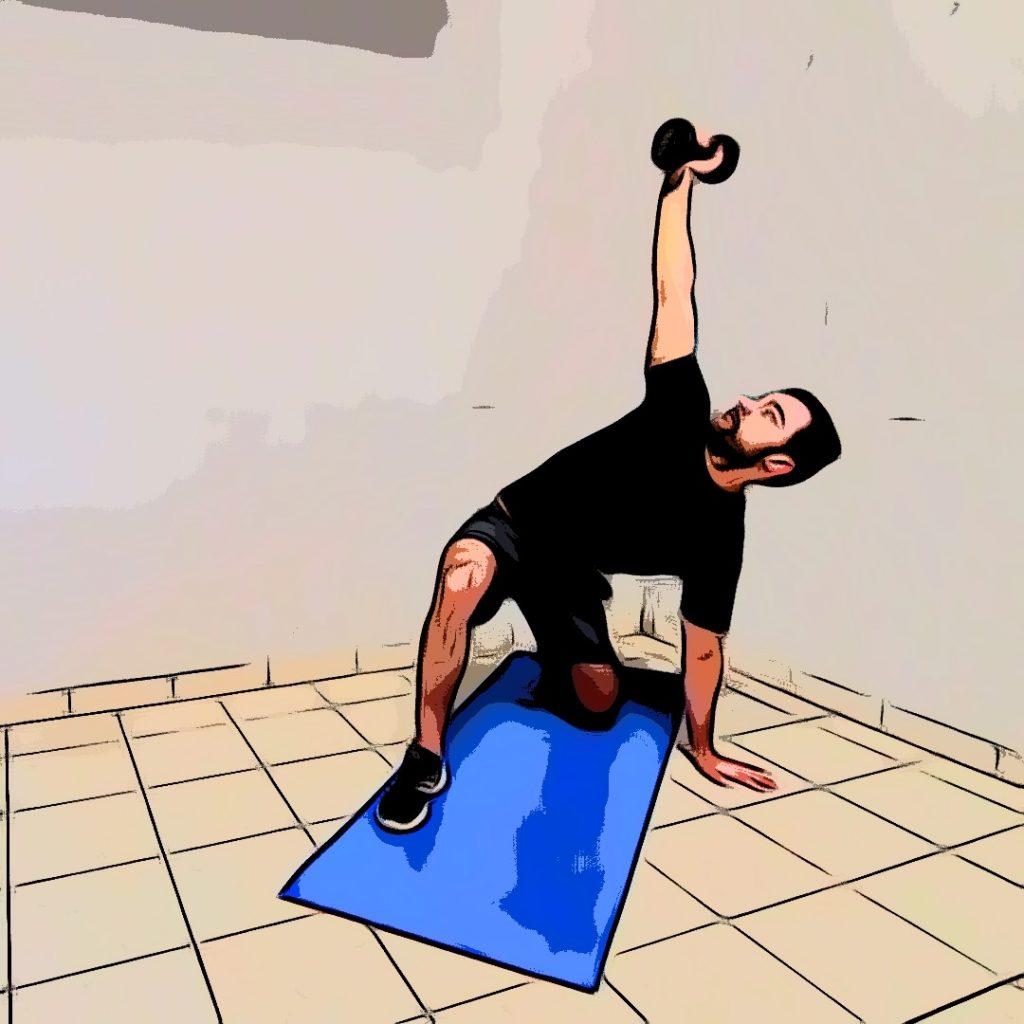 Turkish get up : passage de la jambe