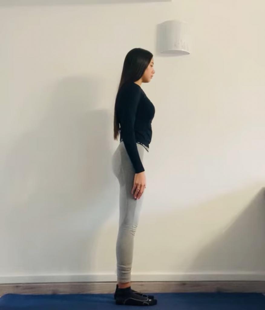 chaise yogique : étape 1