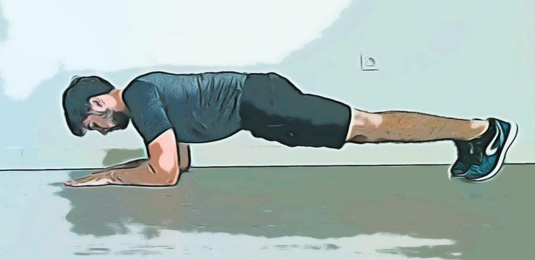 l'exercice du gainage ventral dans votre WOD Abdos