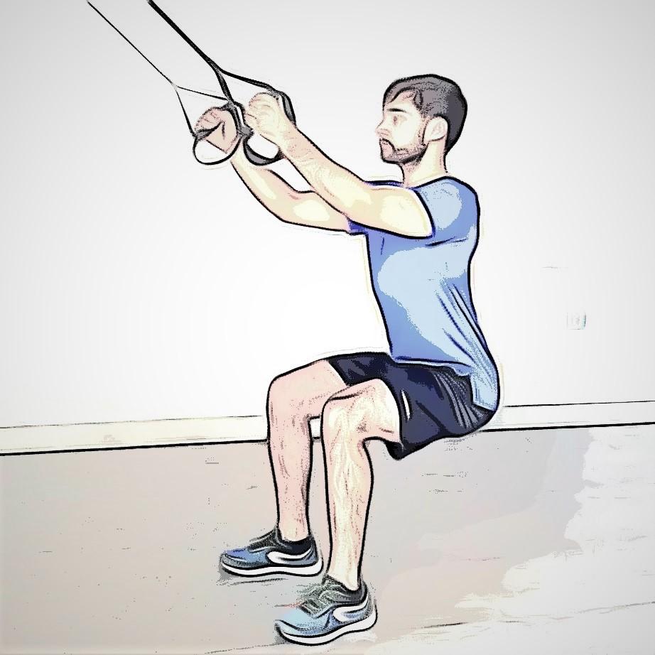 séance avec trx : le squat jump pour renforcer vos jambes
