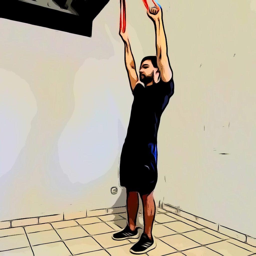 tirage vertical avec élastique : position initiale