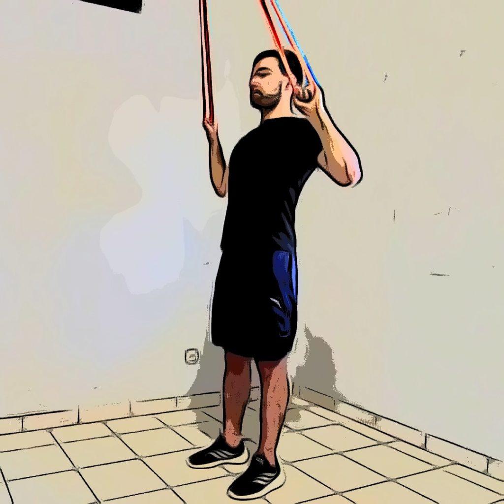 tirage vertical avec élastique : mouvement