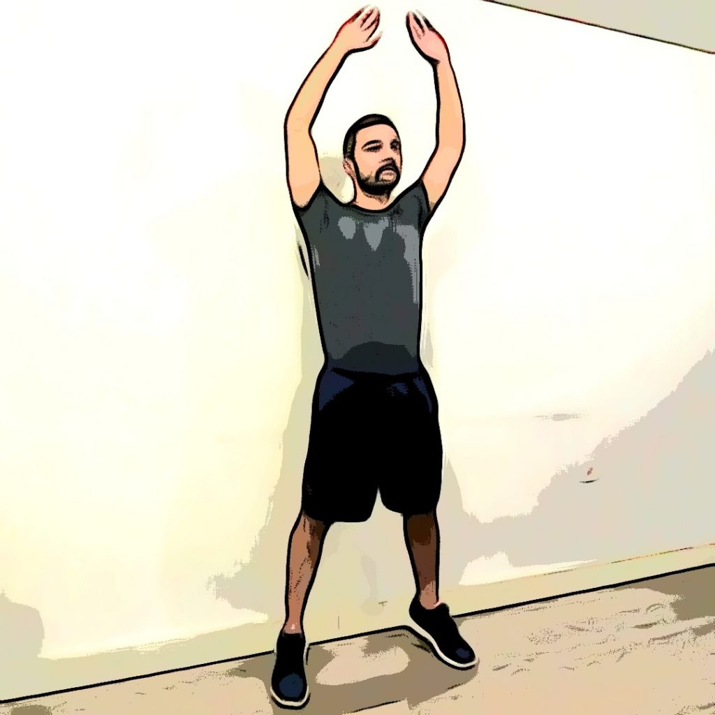 L'exercice de renforcement musculaire appelé jumping jack