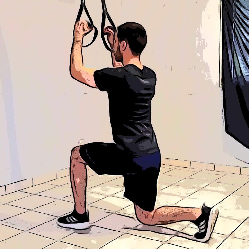 Flexion de genou, fente