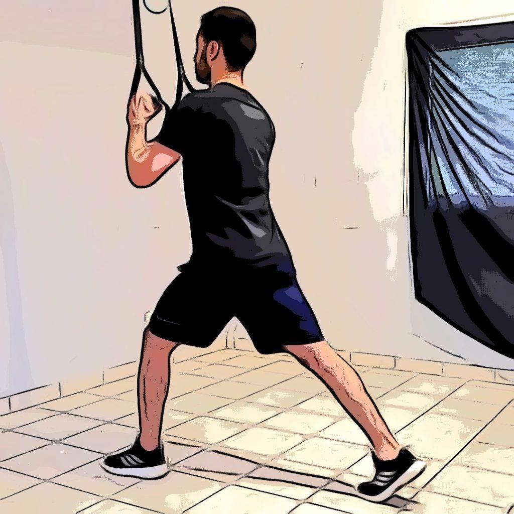 TRX Step back lunge : position de fente