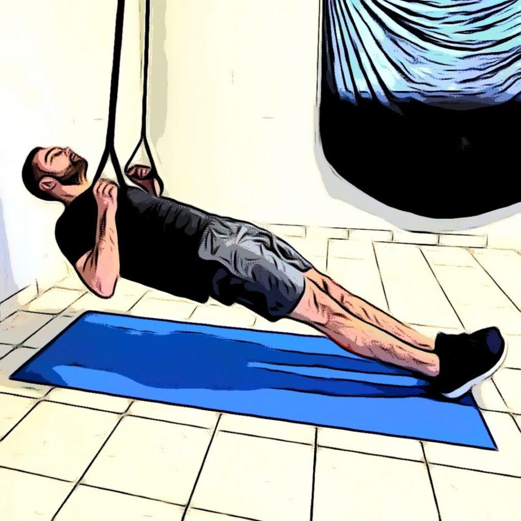TRX Supine pull : un exercice trx haut du corps