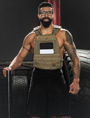 gilet lesté porté par un sportif lors de sa préparation physique