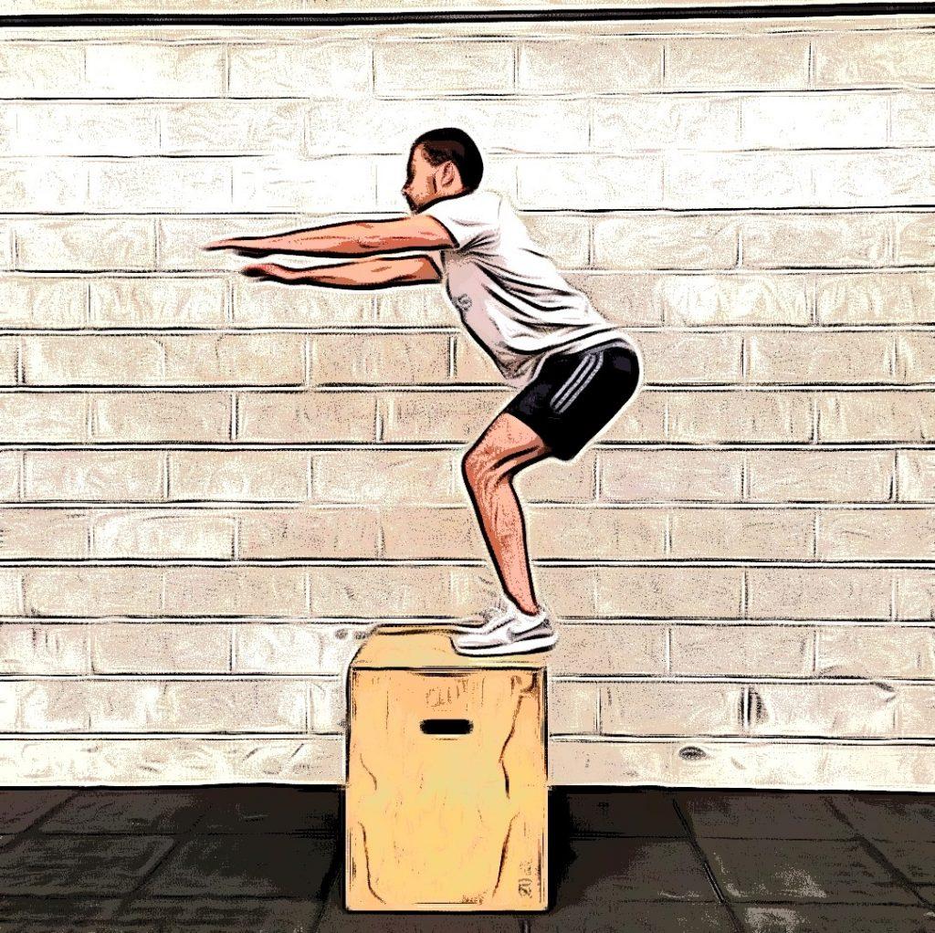 Box jumps :  réception sur box