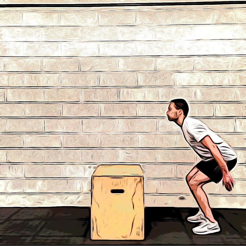 Box jumps : Demi squat dynamique