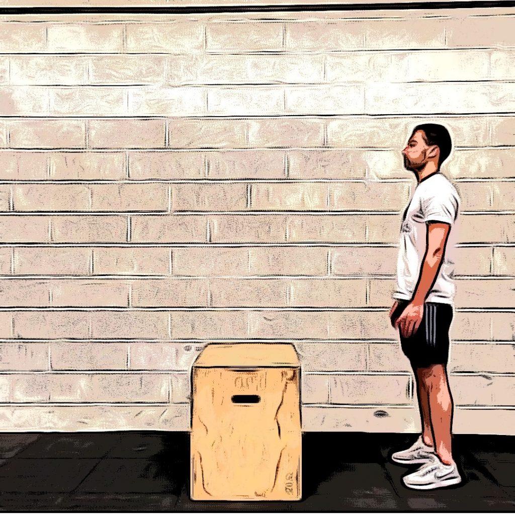 Box jumps : position de départ