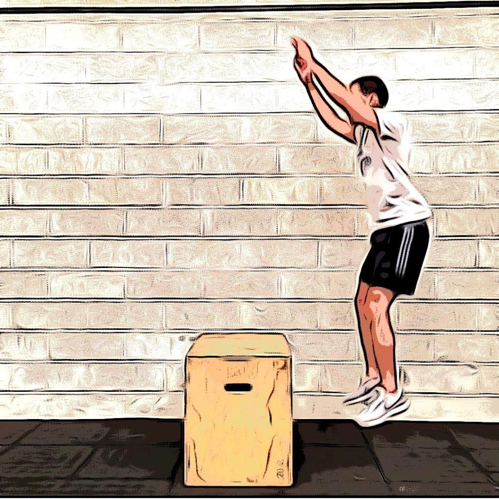 Box jump over : saut vertical