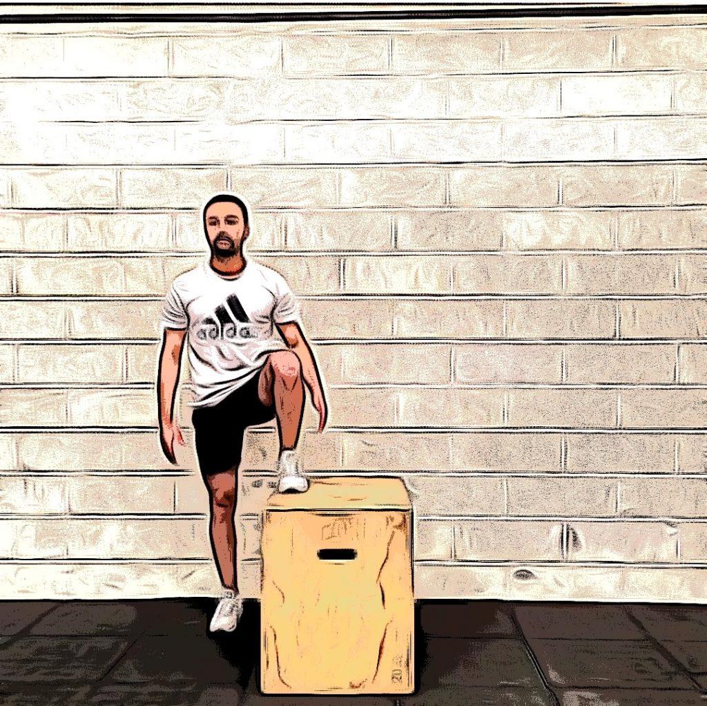 Box jump over : descendre de la plyo box