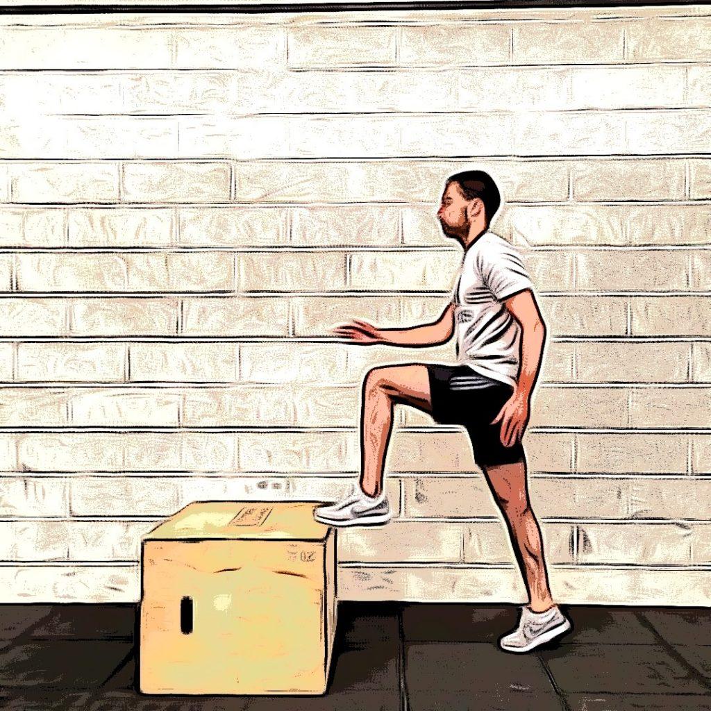 Box toe taps : partie du mouvement dynamique