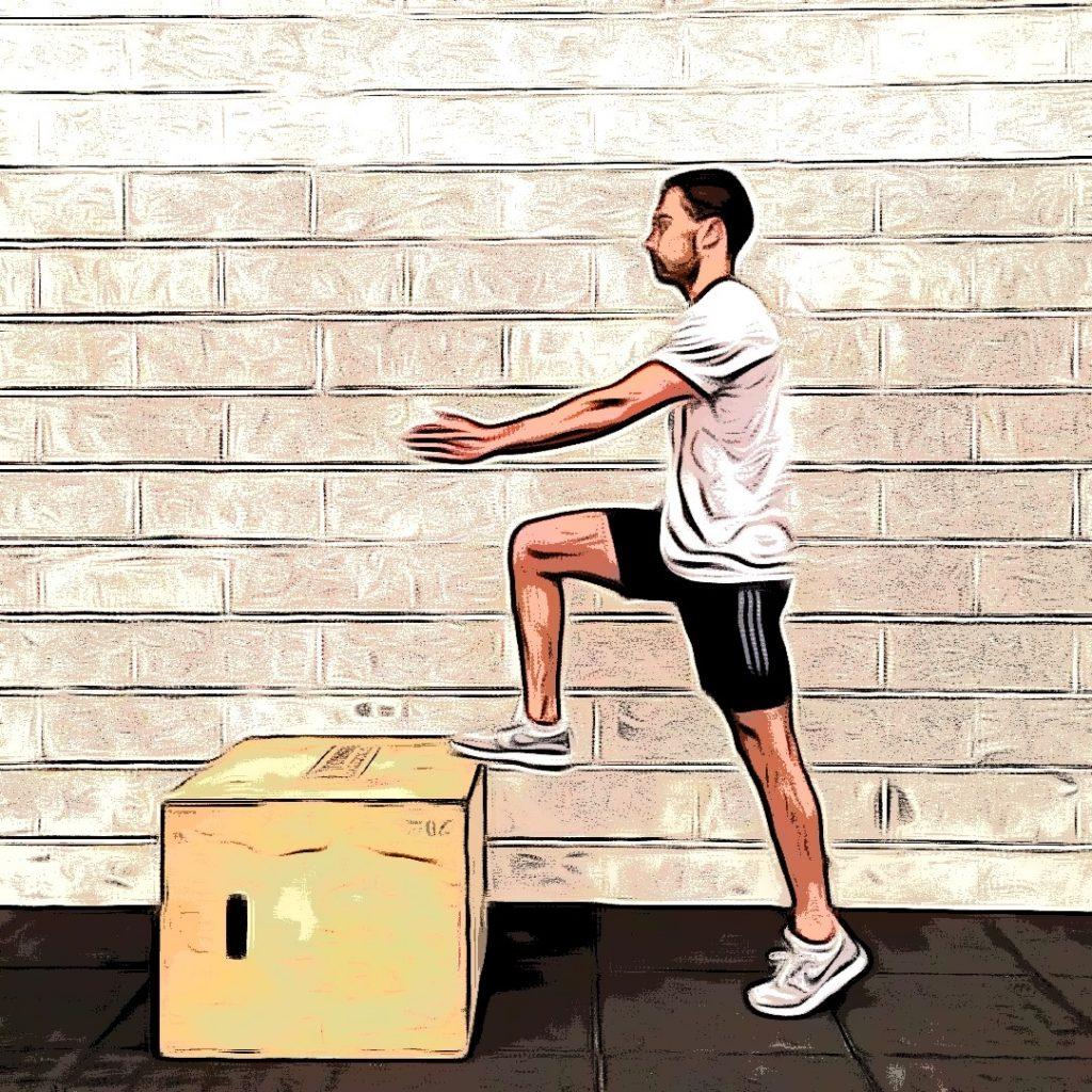 Box toe taps : position de départ