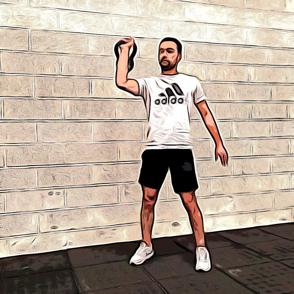 kettlebell clean and press : position statique