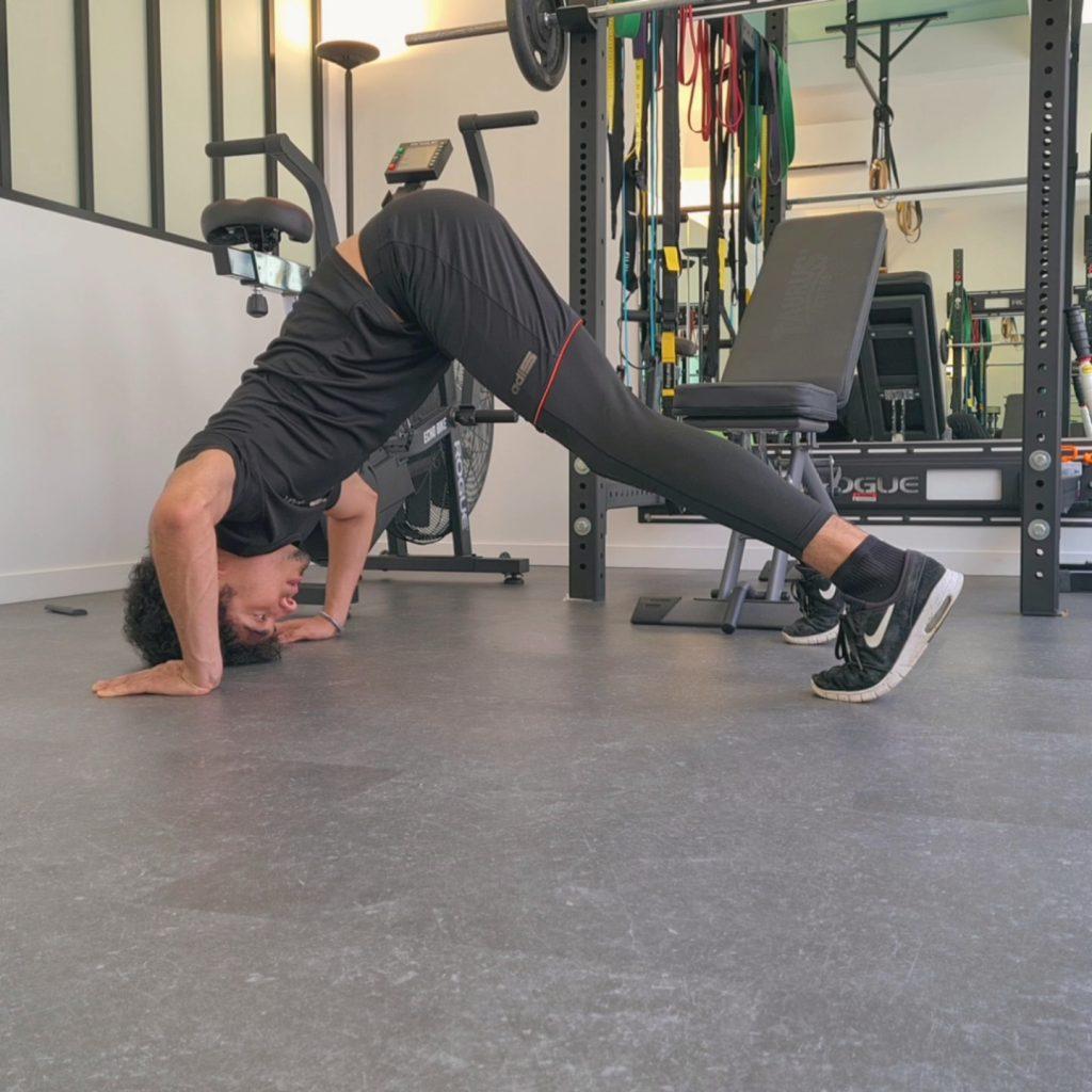 Flexion lors d'un Pike Push Up