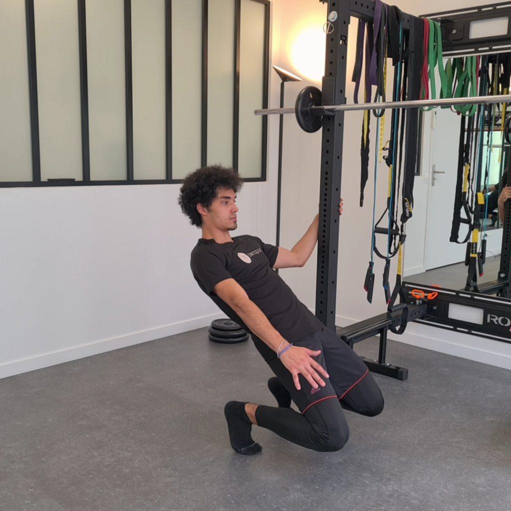 Flexion excentrique en Sissy Squat